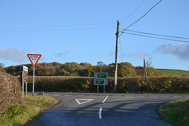 Road junction near New Lodge