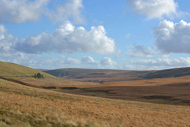 Autumn over upper Cwm Elan