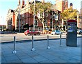 SJ9494 : Retractable bollards by Gerald England