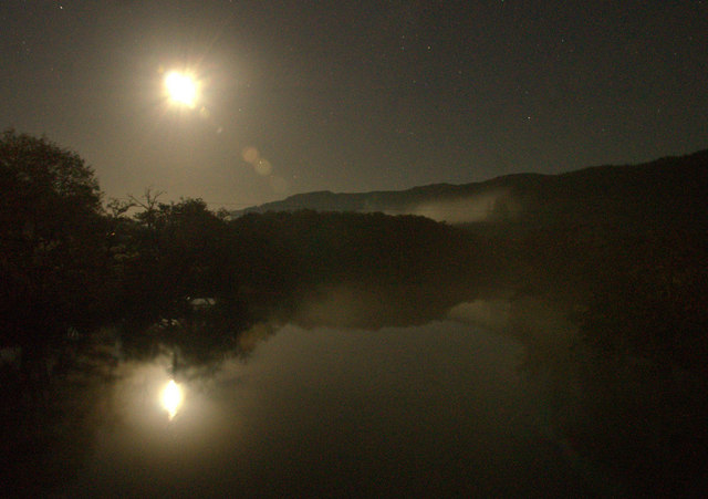 River Glass at Struy by moonlight