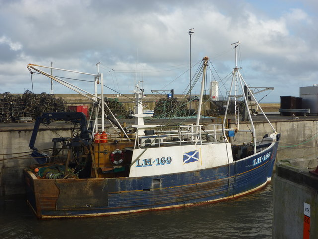 Leith Registered Fishing Boats : Endeavour (LH169) at Seahouses Harbour, Northumberland