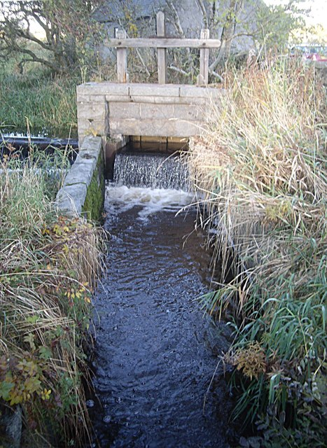 Sluice gate at Leadside
