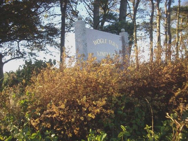 Wogle Farm name sign