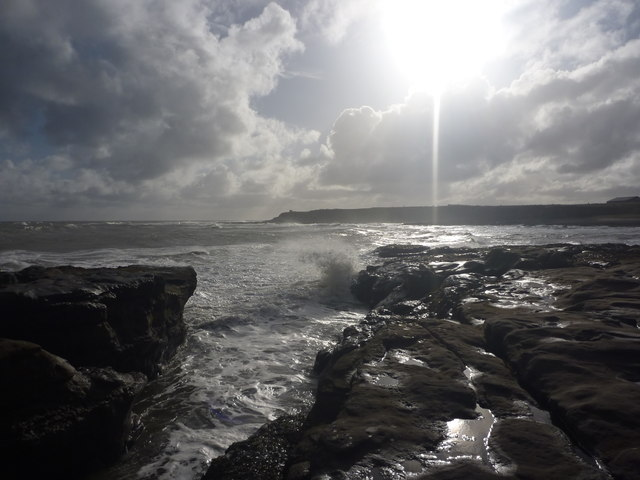 Coastal Northumberland : On The Rocks Near Seahouses Point