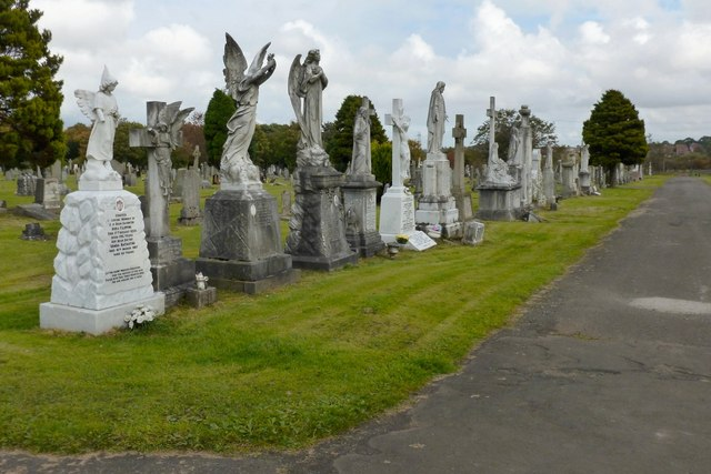 Statues in St Kentigern's R.C. Cemetery