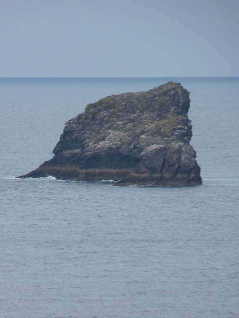 Bawden Rocks from the Trevaunance cliffs