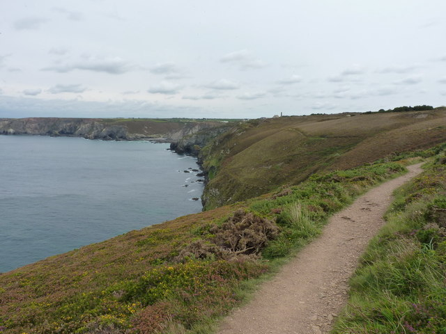 SW Coast Path near Bawden Farm