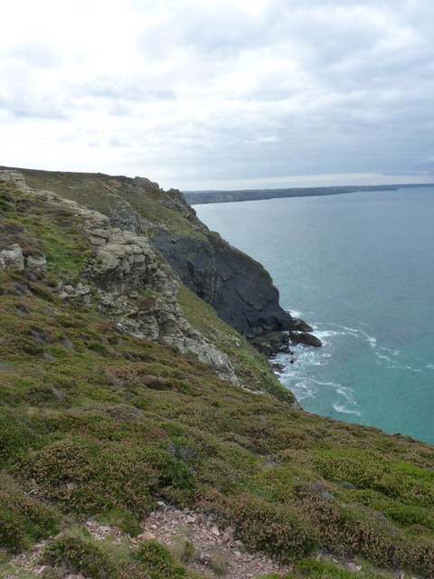 Cliffs west of St Agnes Head
