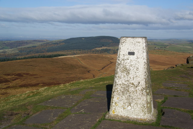 Trig point on Shutlingsloe