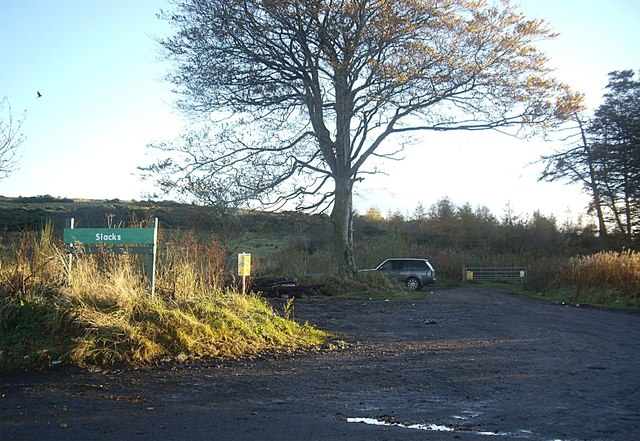 Entrance to 'The Slacks' on Blue Hill