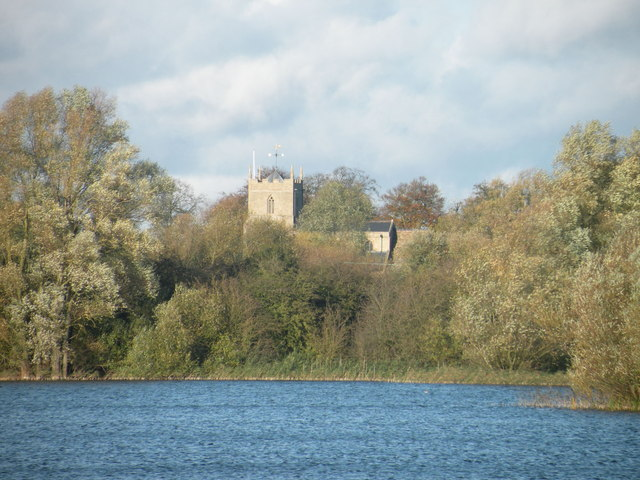 Distant view of Holywell Church
