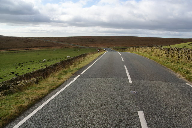 A moorland stretch of the A54