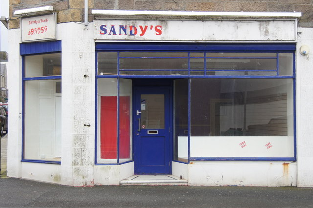 Former premises of Sandy's Taxis, Commercial Street, Lerwick