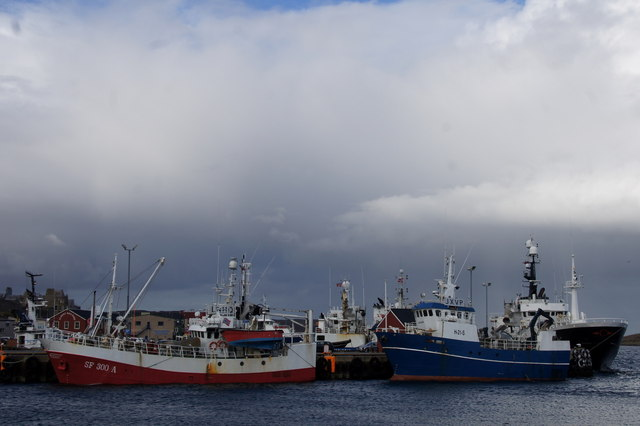 Norwegian fishing vessels at Victoria pier, Lerwick