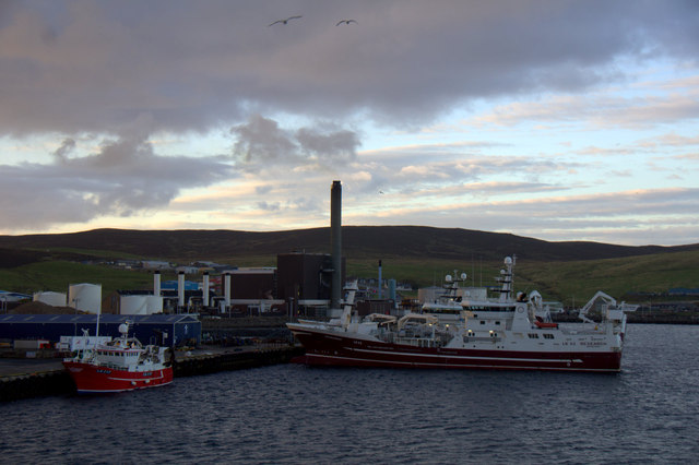 Fishing vessels at Holmsgarth, Lerwick