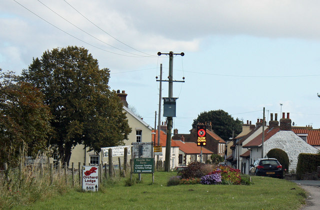 Western edge of Flixton