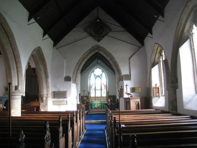 Interior, St. Helen's church, North Thoresby