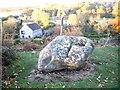 NJ8715 : A granite glacial erratic boulder by Stanley Howe