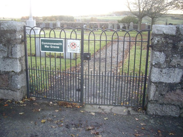 Gated-entrance to the Commonwealth War Graves at Dyce