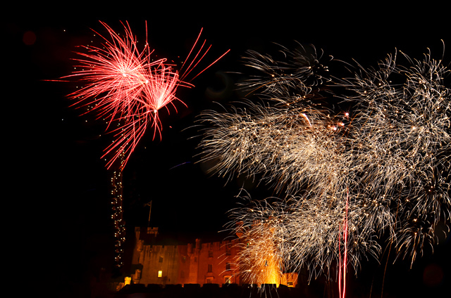 Fireworks at Dunvegan Castle