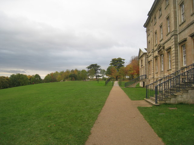 Path in front of the south facade of Cusworth Hall