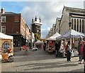 SJ8990 : Stockport Market Place by Gerald England