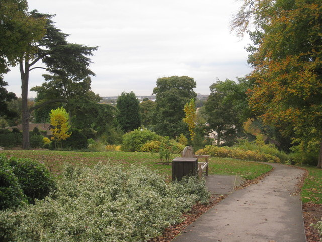 Cusworth Hall gardens in autumn