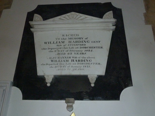 St Michael, Stinsford: memorial (IX)
