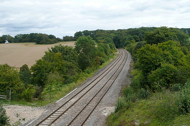 Chiltern line towards London