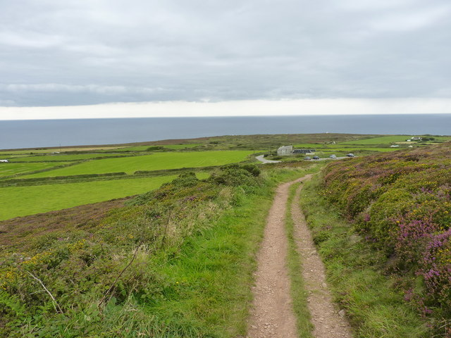 Hillside path on St Agnes Beacon