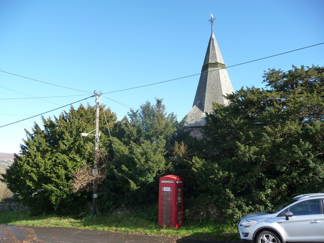 Part of the church of St. Elli, Llanelly Hill