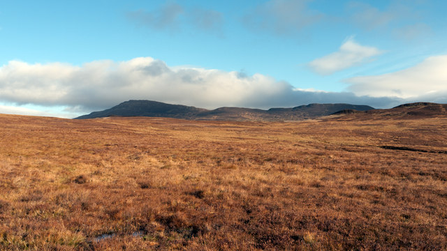 Moorland east of Allt a' Chreagain Odhair
