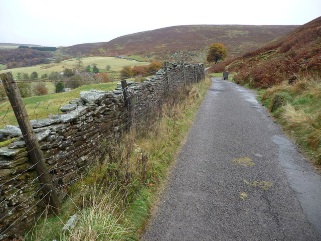 Lane into Cwm Tyleri