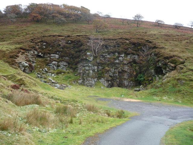 Old quarry in Cwm Tyleri