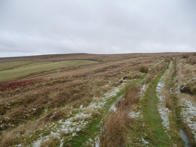 Upland path above Cwm Tyleri
