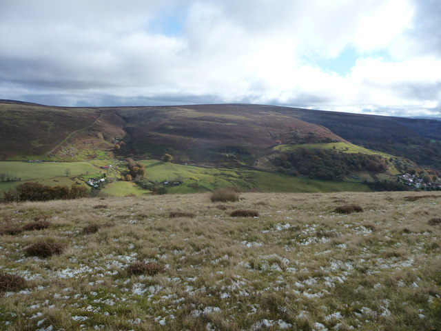 On Mynydd James high above Cwm Tyleri