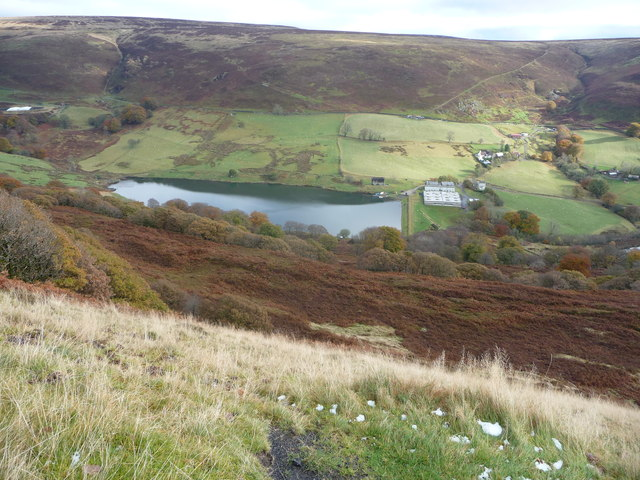 Cwmtillery Reservoir from Mynydd James