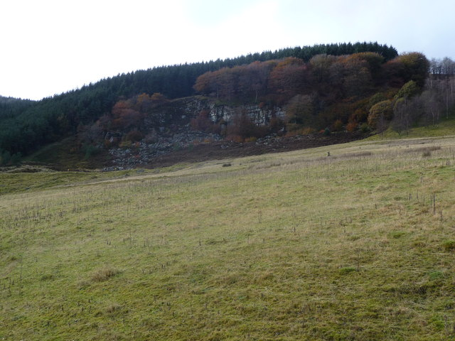Quarry above Cwmtillery