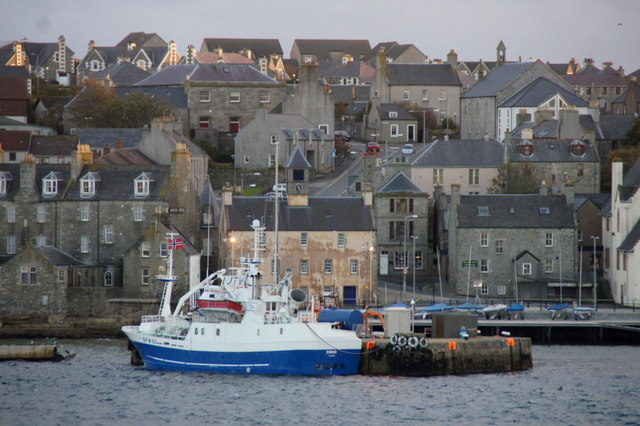 MV Svebas at the lifeboat pier, Lerwick