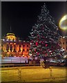 TQ3080 : Christmas Tree in Courtyard of Somerset House by PAUL FARMER