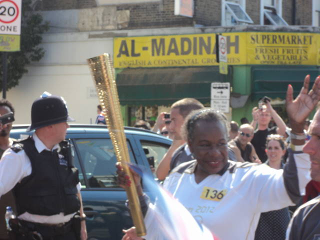 Olympic Torch relay at the 'Bush iii