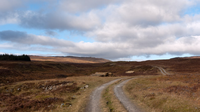 Estate road beside Allt a' Chreagain Odhair
