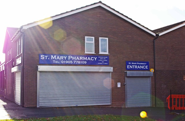 St. Mary Pharmacy, Farmers Way, Westlands, Droitwich Spa