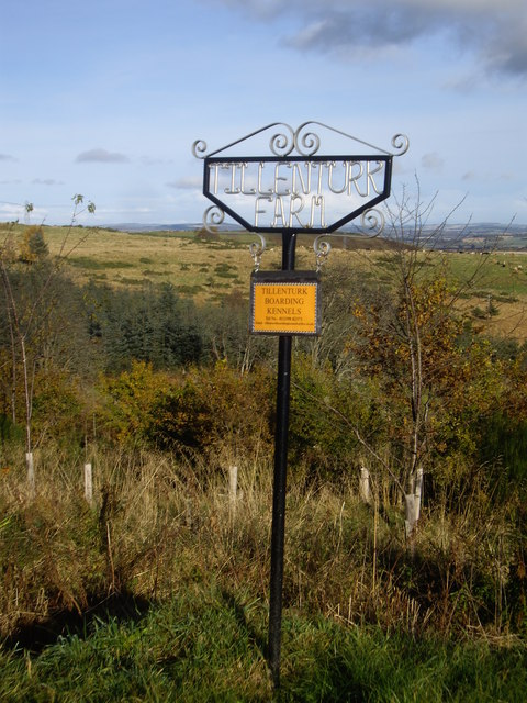 Sign for Tillenturk Farm and boarding kennels