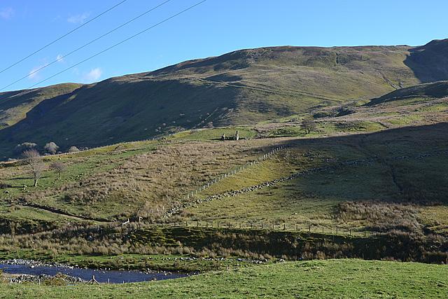 Southern flank of Cwm Ystwyth