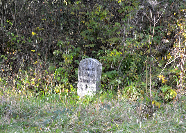 Milestone on the A44