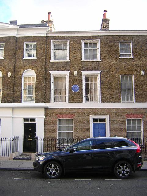 Gillingham Street, Pimlico: former home of Joseph Conrad
