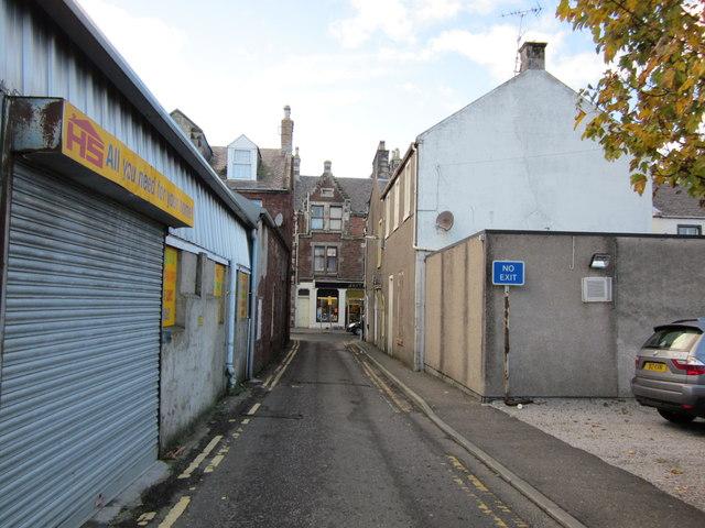 Lane to Dalrymple Street, Girvan
