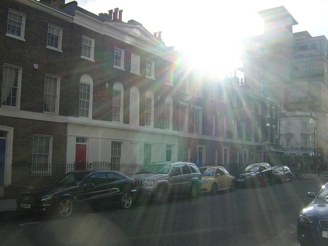 Gillingham Street, Pimlico: midday sun