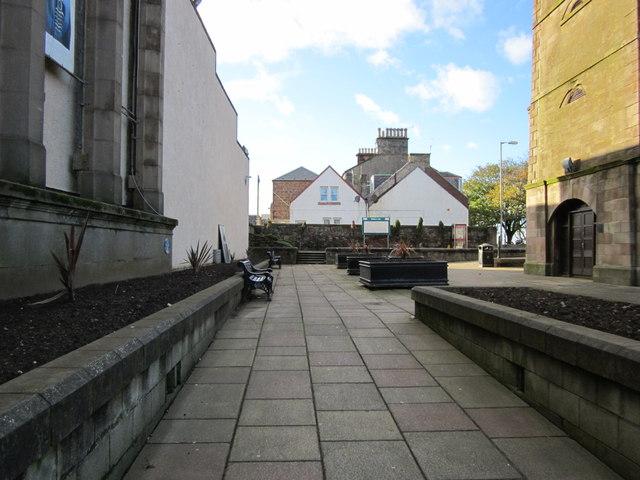 Walkway at Stumpy Tower, Girvan